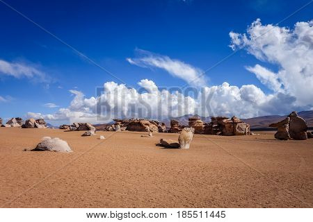 Siloli desert in sud Lipez reserva Eduardo Avaroa Bolivia poster