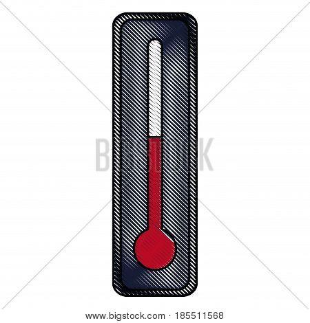 drawing thermometer temperature control degree diagnostic vector illustration