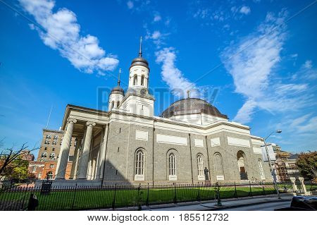 Basilica Of The Assumption In Downtown Baltimore