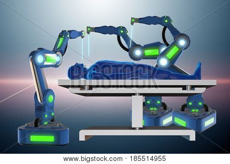 Surgery performed by robotic arm