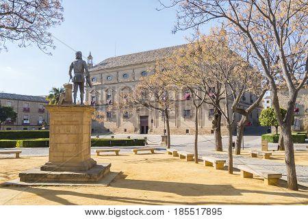 Vazquez Molina Square in Ubeda, Spain city