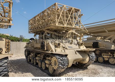 Sherman Multiple Rocket Launcher At Latrun Armored Corps Museum