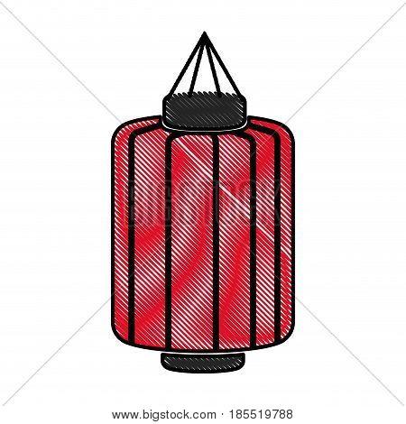drawing japanese lantern decoration festive culture vector illustration