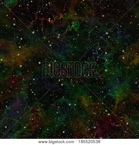 Abstract dark colorful universe, Nebula summer night starry sky, Multicolor outer space, Galactic glittering texture background, Cosmic illustration