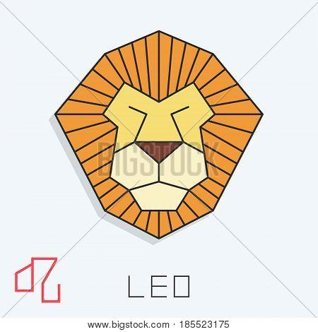 Leo zodiac sign, horoscope symbol, vector illustration