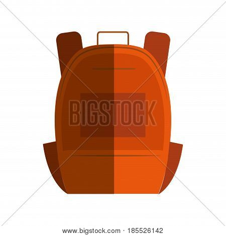 schoolbag student isolated icon vector illustration design