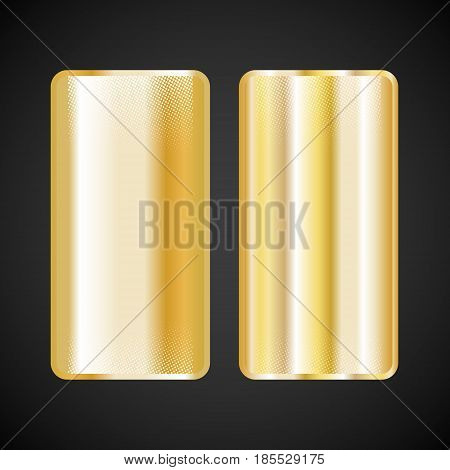 Gold gradient square. Golden metallic texture pattern. Vector illustration.