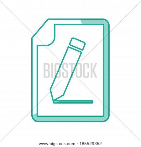 Sheet of paper with a bent corner icon vector illustration graphic design
