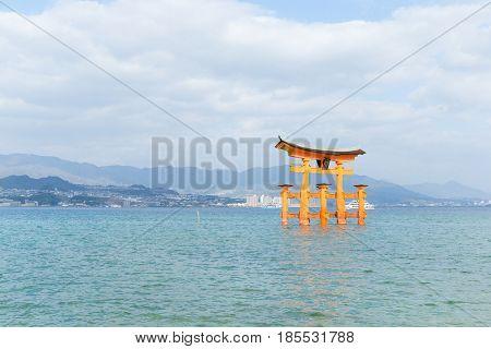 Torii of itsukushima-shrine in hiroshima
