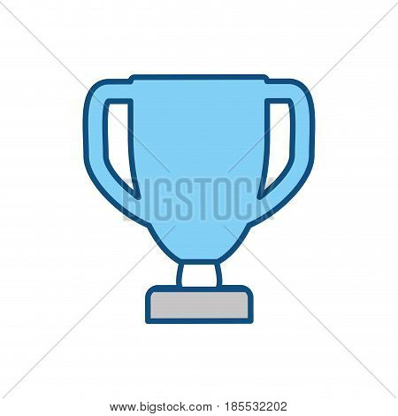 Trophy cup champiomship vector ilustration icon win