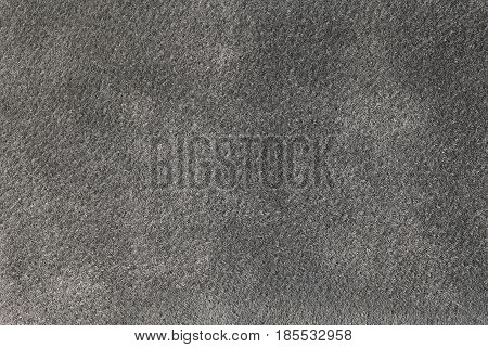 Gray suede texture background, long fiber, closeup
