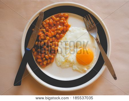 Vegetarian English Breakfast, Faded Vintage Look