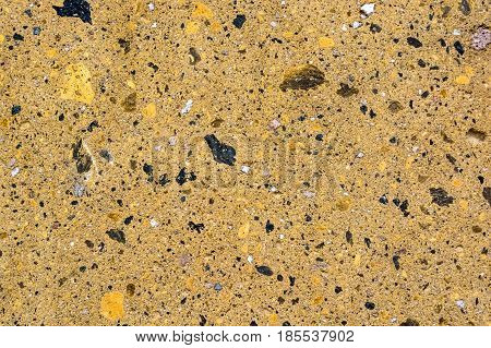 Close up image of yellow granite for texture background