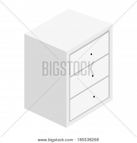 Bedside table with drawers vector illustration design