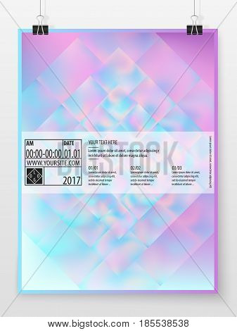 Poster Design Banner Business Concept Holographic Vertical 1