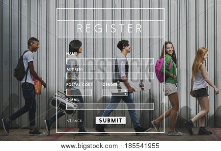 Register overlay word young people