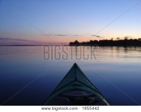 Kayaking At Dusk
