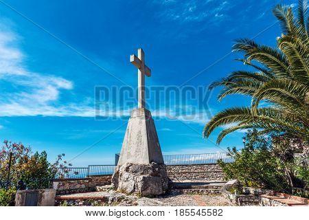 Santuario madonna della rocca (Church of Madonna) in Taormina, Sicily