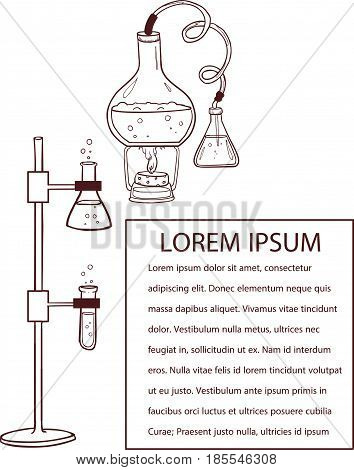 vector illustration of a chemistry laboratory .