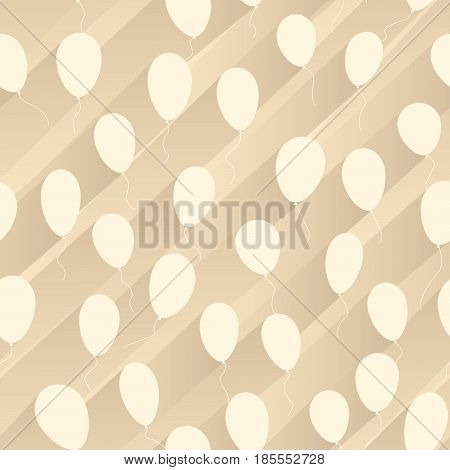 Vector seamless abstract background air balloons with stripes of shadow behind.