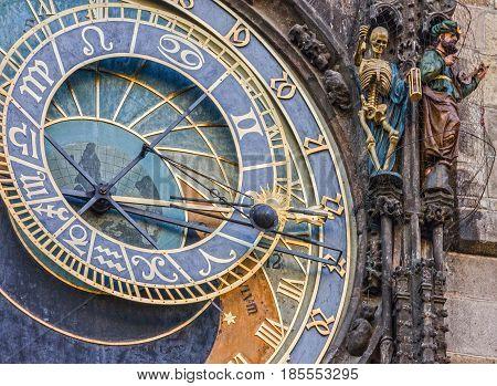 Prague. Astronomical Clock in Old Town, Czech Republic.