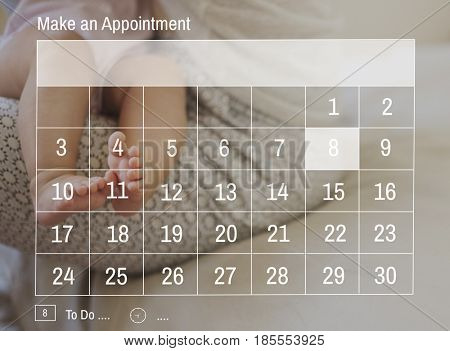 Calendar Agenda Appointment Banner Graphic