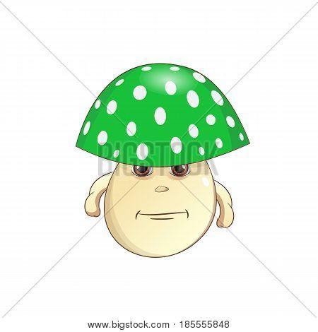 green Mushroom - fungus Vector Illustration on white background