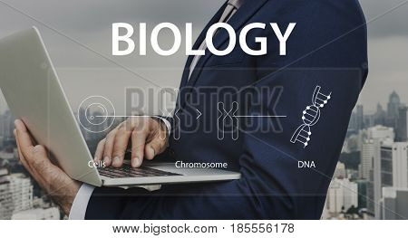 People learning biology about cells chromosomes and DNA