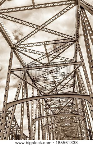 a steel engineered highway and bridge structure