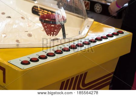 attack ice hockey table game. Old vintage