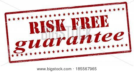 Stamp with text risk free guarantee inside vector illustration