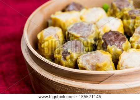 Chinese food dim sum on plate