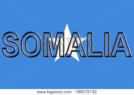 Flag Of Somalia Word.