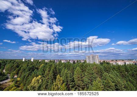 Pripyat city in Chernobyl Exclusion Zone Ukraine