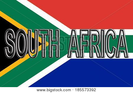 Flag Of South Africa Word.