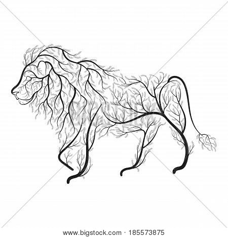 Lion Bush Stylization