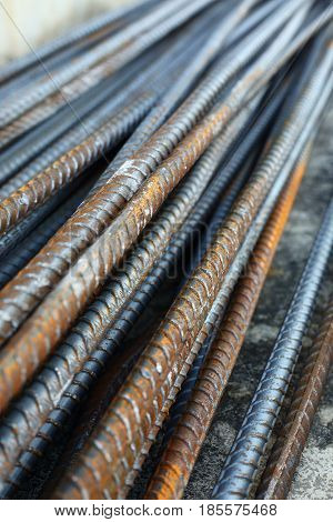 Rebar Steel Reinforcing Rod Bar In Construction Industry