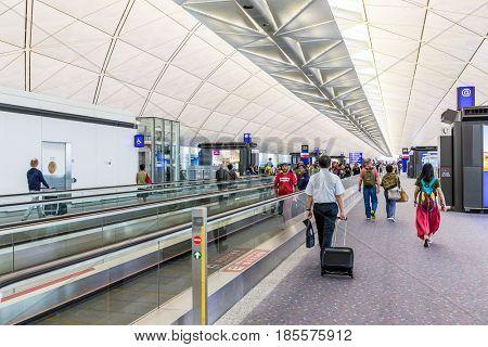 Hong Kong international airport, Hong Kong, September 2016 -: Hong Kong airport