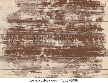 Brown grunge wooden wall, table, floor surface. Dark vector wood texture