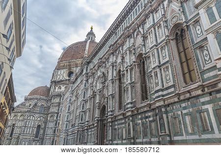 Facade of the Cathedral of Santa Maria del Fiore in Florence