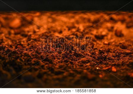 Close up of heat from the fire place texture