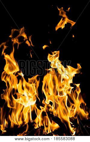 abstract background. fire flames on a black background .