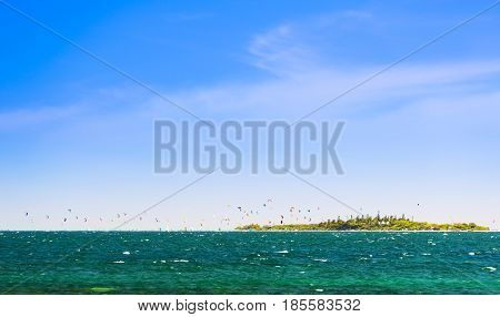 Kiteboarding Tropical Island