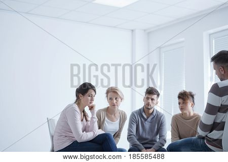 Sad Girl In A Group