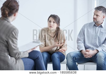 Couple On Marriage Therapy