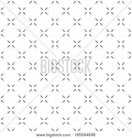 Vector minimalist seamless pattern, simple monochrome geometric texture. Diagonal thin lines, repeat tiles. Abstract minimalistic black & white background. Design for print, decor, cover, digital, web