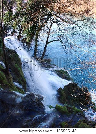 Natural waterfall of a river named Day(river Dan is the shortest river in Serbia, as it is 365 meters long) which flows into the Drina river in Serbia