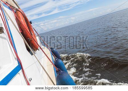 Ship Safety Equipment, Orange Lifebuoy
