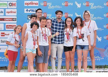 Giffoni Valle Piana Sa Italy - July 22 2016 : Leonardo De Carli at Giffoni Film Festival 2016 - on July 22 2016 in Giffoni Valle Piana Italy