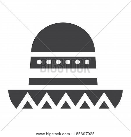 Sombrero Mexican hat solid icon, Travel and tourism, vector graphics, a filled pattern on a white background, eps 10.